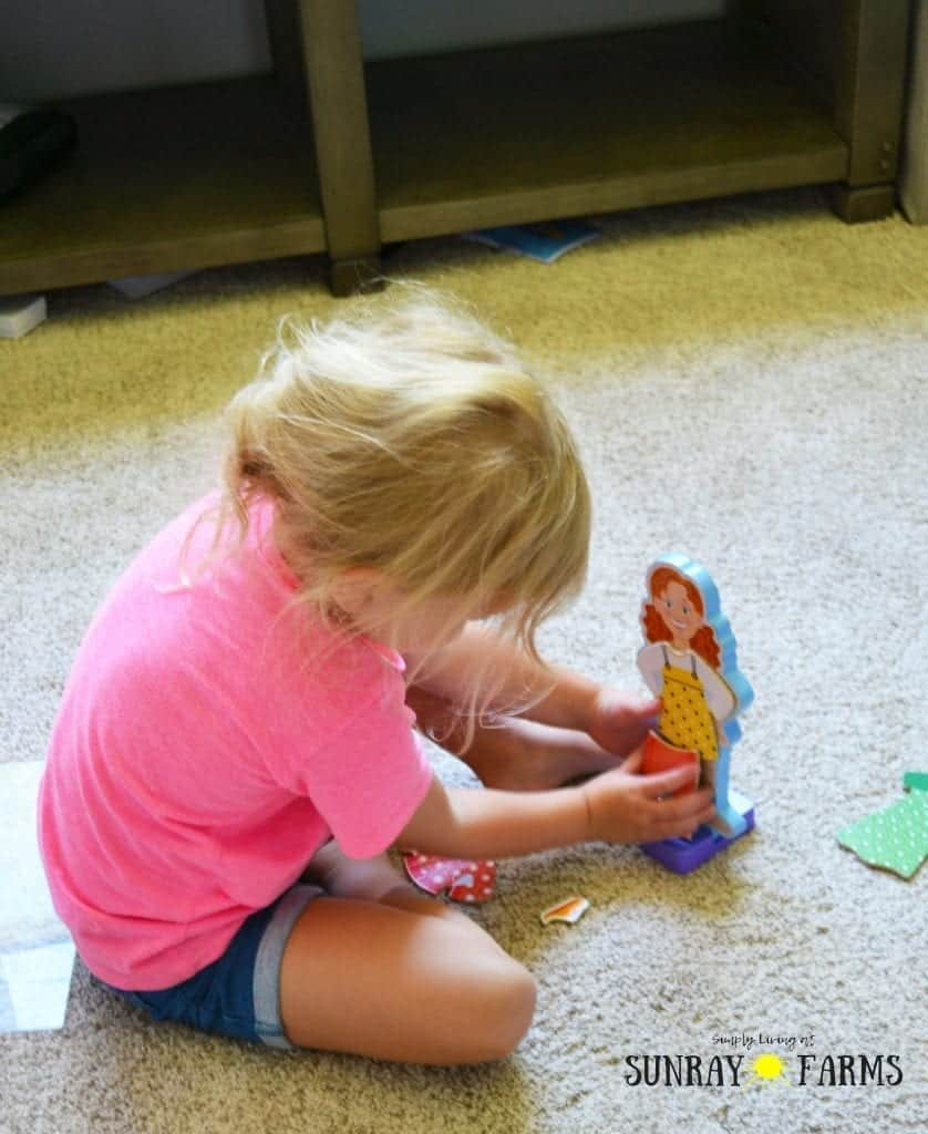 Getting Out of the House with a Toddler Magnetic Dolls