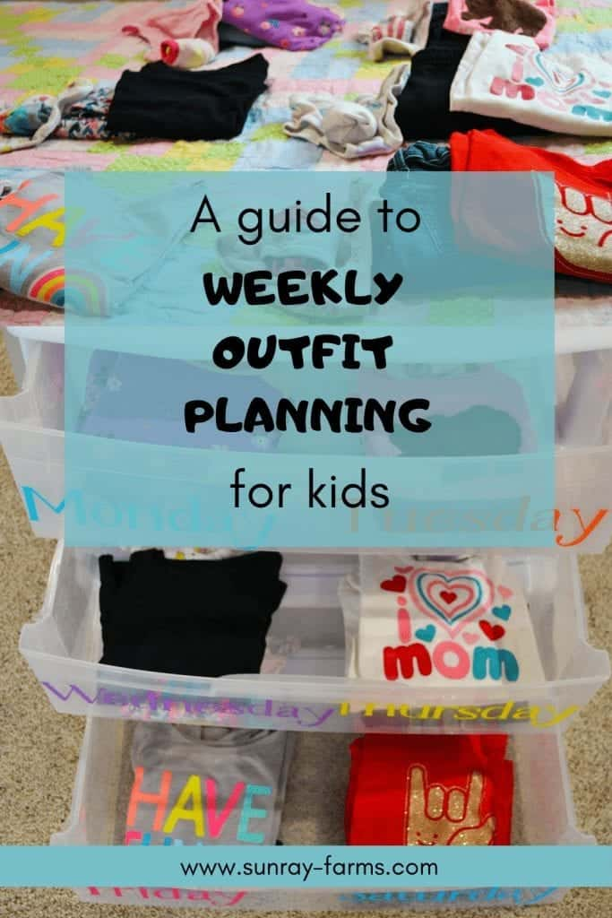 Get organized with weekly outfit planning for your kids.