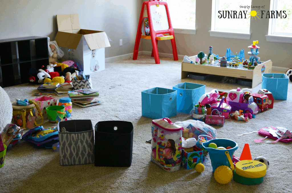 Sort the toys for your toy rotation.