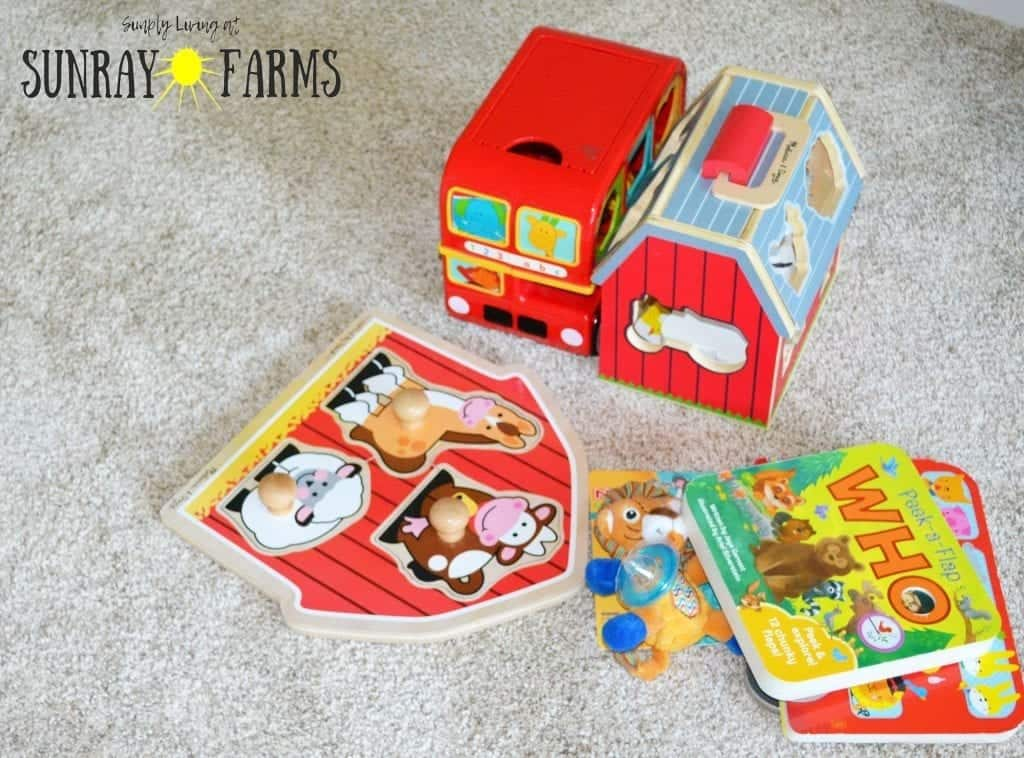 Remove toys your children have outgrown from the toy rotation.