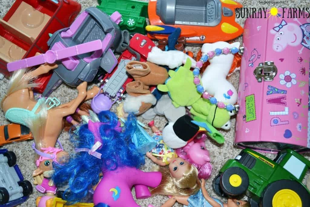 A pile of children's toys