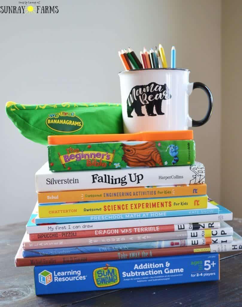 Homeschool supplies- games, books, curriculum