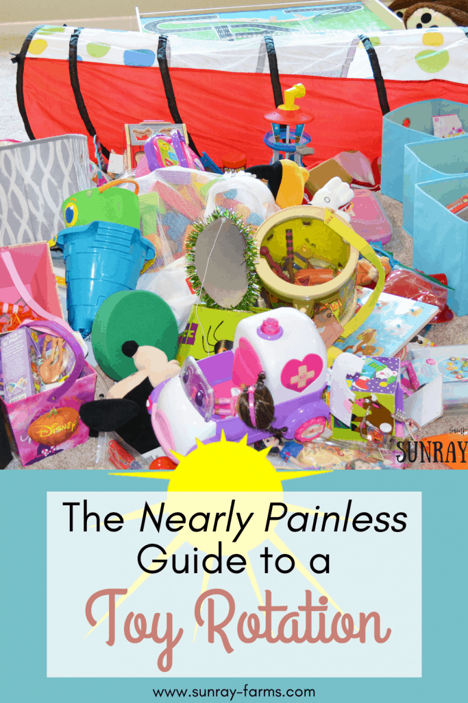 The Nearly Painless Guide to a Toy Rotation - Creating a toy rotation doesn't have to be scary or time-consuming.  And it just might change the way your kids play!