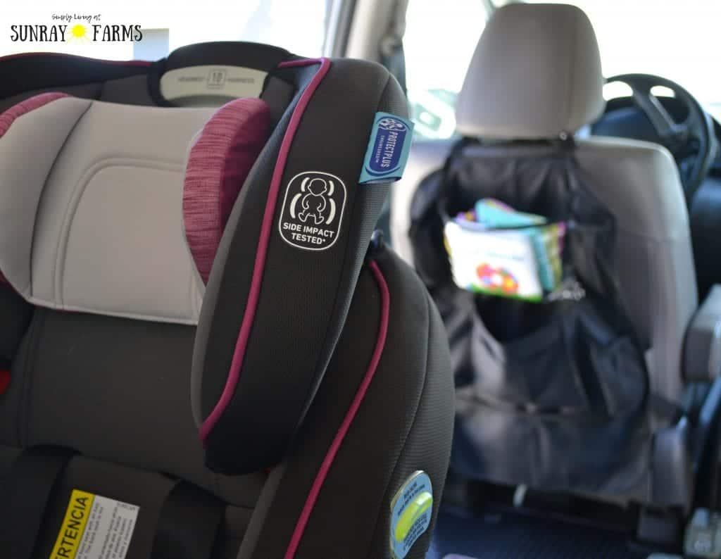 Graco 4Ever car seat rear-facing in a minivan